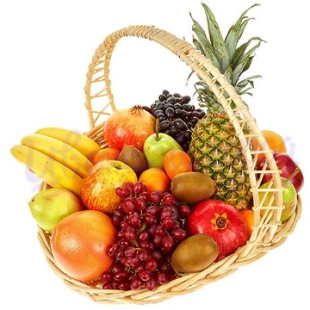 Большая корзина с фруктами (4,5 кг)