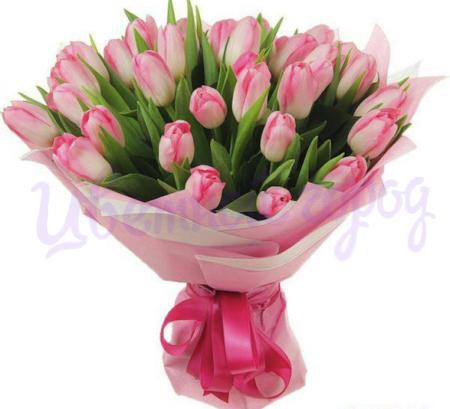 """Букет """"23 розовых тюльпана"""""""