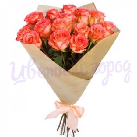 """Букет """"15 оранжевых роз"""""""