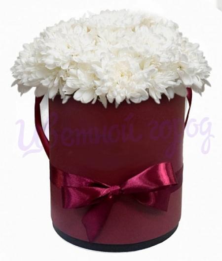 """Букет """"Хризантемы в шляпной коробке"""""""
