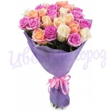 """Букет """"21 разноцветная роза"""""""