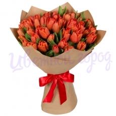 """Букет """"21 красный тюльпан"""""""