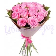 """Букет """"15 розовых роз"""""""