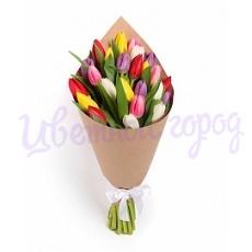 """Букет """"Разноцветные тюльпаны"""""""