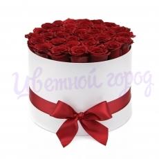 """Букет """"25 роз в шляпной коробке"""""""