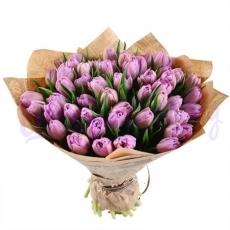 """Букет """"Сиреневые тюльпаны"""""""