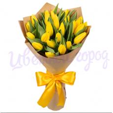 "Букет ""Жёлтые тюльпаны 25 шт"""