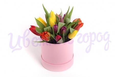 "Букет ""Тюльпаны в коробке"""